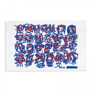 Tim Ferguson Tea Towel – Blue & Red