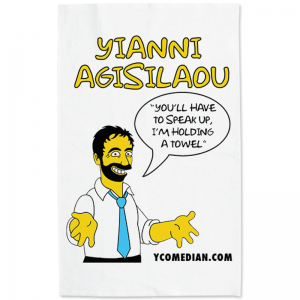 Yianni Agisilaou Simpsonised Tea Towel
