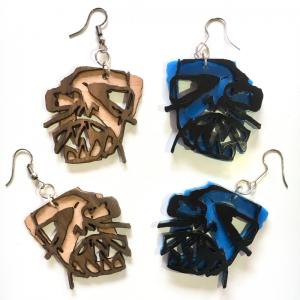 Tim Awt Earrings – Skull (Acrylic)