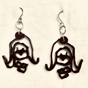 Tim Awt Earrings – Cousin Valmay (Acrylic)