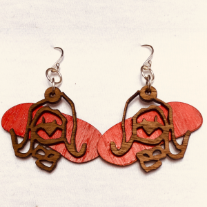 Tim Awt Earrings – Cousin Valmay (Wooden)