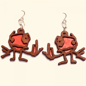 Tim Awt Earrings – Fck You Kid (Wooden)