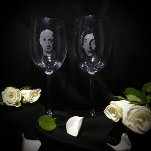 The Sandman & Flacco Wine Glasses
